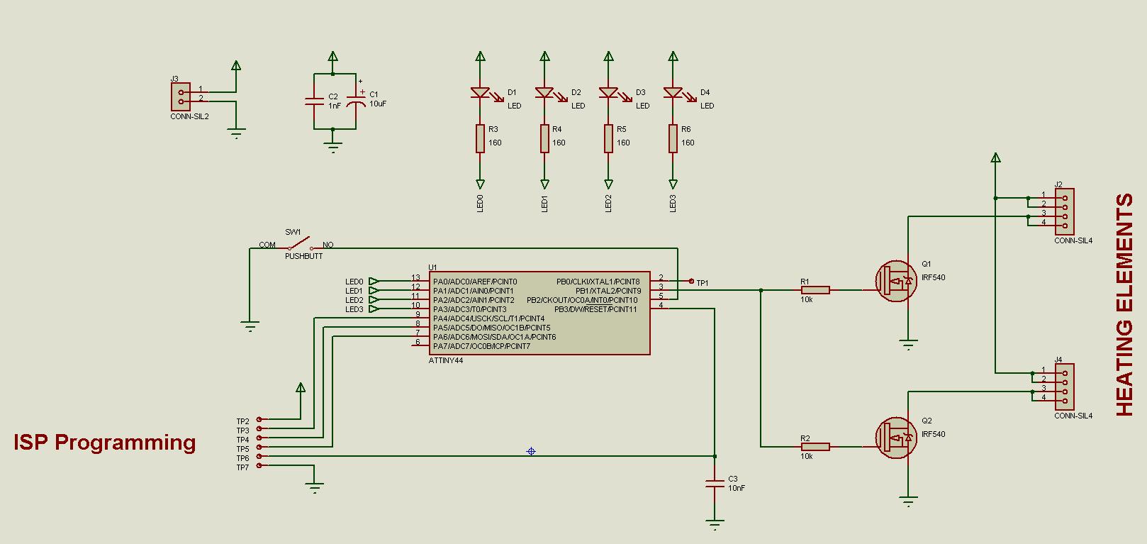 Mikrokontrolleriksi valitsin Atmel n ATtiny44 16603f1674